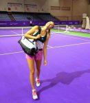 POZA ZILEI, 15 octombrie 2014: Maria Sharapova, prima jucătoare care s-a antrenat la Singapore