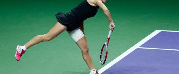 Simona Halep a câștigat azi primul meci de la Turneul Campioanelor, învingând-o cu scorul de 6-2, 6-3 pe Eugenie Bouchard. Iată în continuare imagini cu jucătoarea noastră în acțiune în...