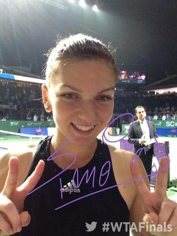 Simona Halep si autograful singapore turneul campioanelor
