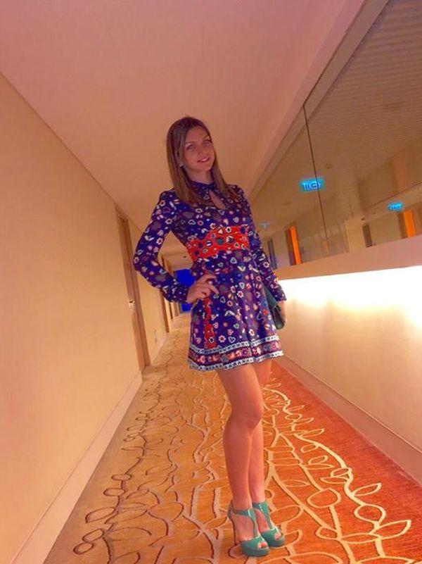 Simona Halep tinuta WTA Tour Finals Singapore 2014