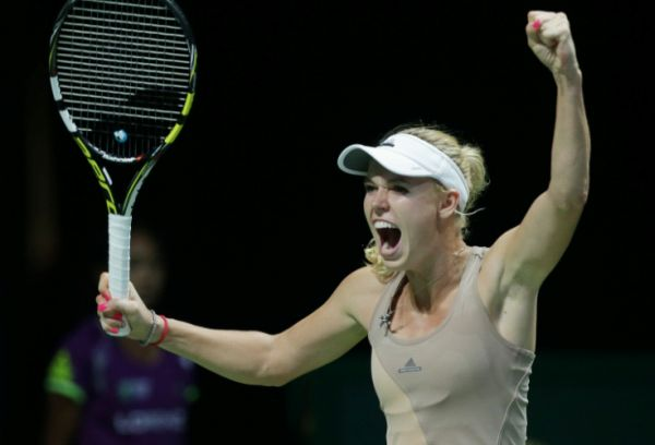 Caroline Wozniacki bucurie Singapore Turneul Campioanelor