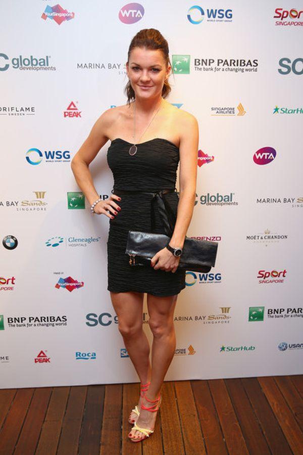 Agnieszka Radwanska la petrecerea jucatoarelor la Singapore