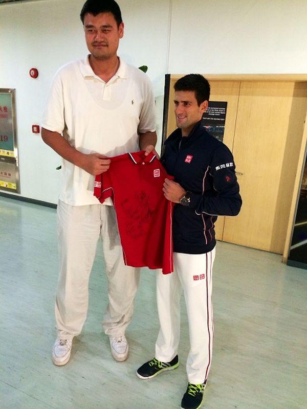 Djokovic si Yao Ming Shanghai