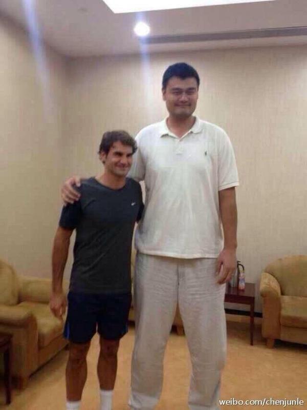Federer si Yao Ming