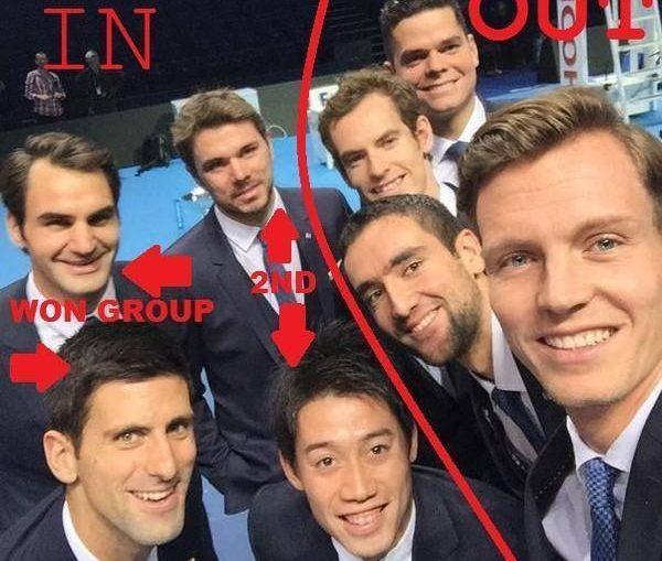 Turneul Campionilor selfie jucatori tenis