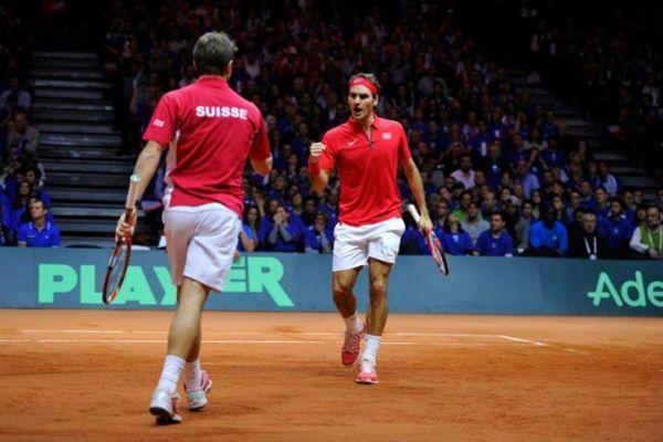 Roger Federer Stanislas Wawrinka cupa davis