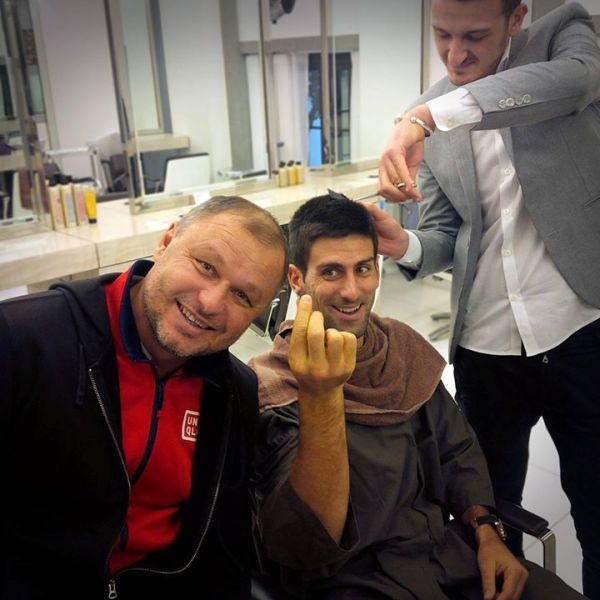 Djokovic Vajda frizer londra atp