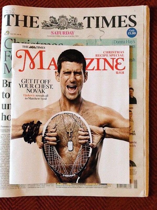 Djokovic the times coperta supliment