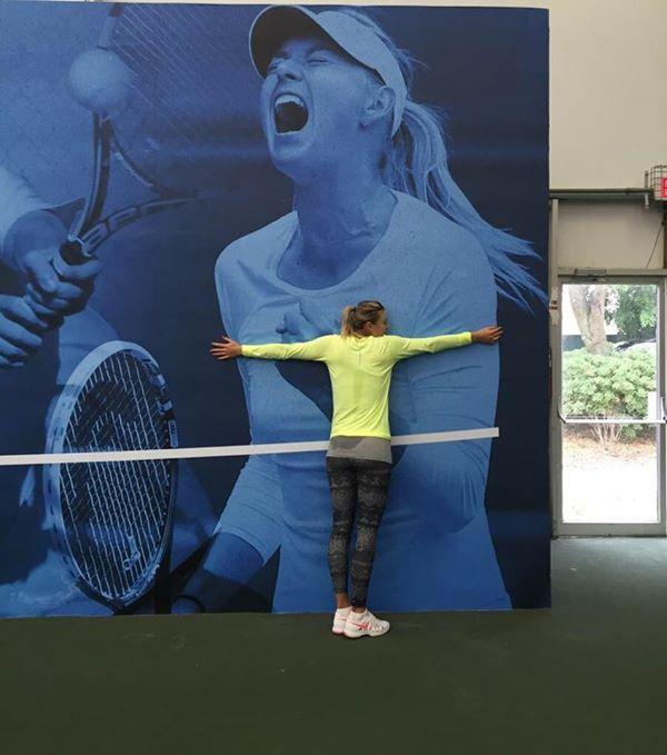 maria sharapova tenis antrenament pregatire