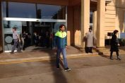 Rafael Nadal la iesirea din spital