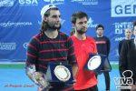 FOTO Patrick Grigoriu și Costin Pavăl cu trofeele primite după victoria din challenger-ul de la Andria