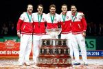 FOTOGALERIE Imagini cu bucuria lui Roger Federer și a elvețienilor după câștigarea Cupei Davis