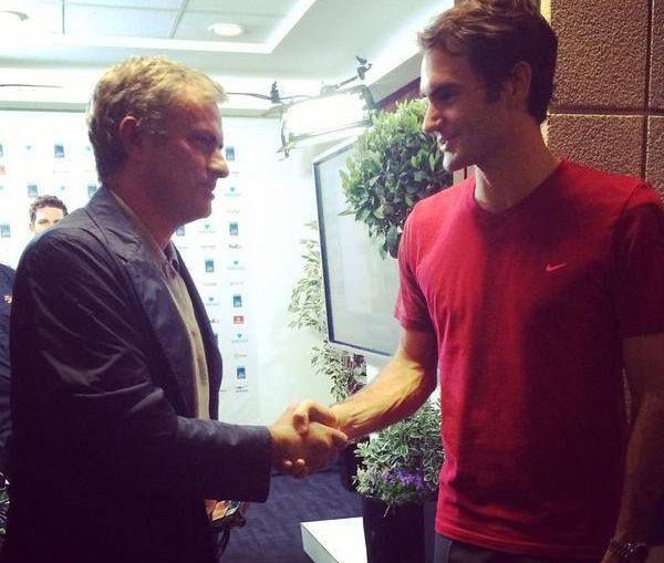 Jose Mourinho Roger Federer londra