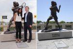 FOTO Racheta statuii Gabrielei Sabatini a fost furată!