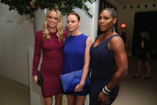 Caroline Wozniacki si Serena Williams la petrecerea Vogue