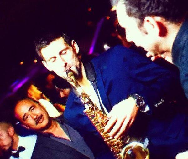 djokovic saxofon players party iptl