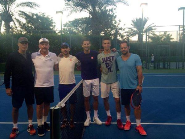 djokovic dubai coric antrenament tenis