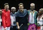 FOTO Roger Federer și Stanislas Wawrinka au strâns 1,3 milioane de franci elvețieni în demonstrativul pentru Africa
