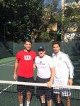 FOTO Horia Tecău și Jean Julien Rojer au avut un partener celebru la antrenament: actorul Kevin Spacey