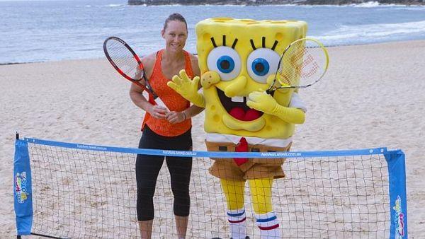 Samantha stosur spongebob plaja australia