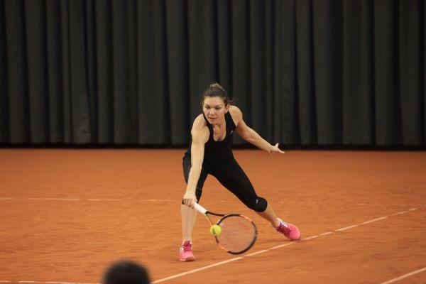 Simona Halep tenis stejarii demonstrativ