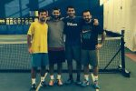 FOTO Horia Tecău şi Florin Mergea s-au antrenat azi împreună cu Costin Pavăl şi Patrick Grigoriu