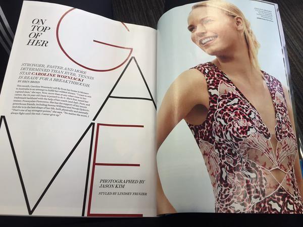 Caroline Wozniacki Self Magazine USA