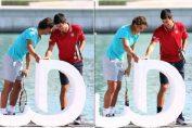 Nadal Djokovic beach rotana Abu Dhabi