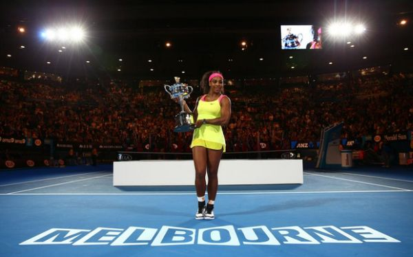 serena williams trofeu australian open