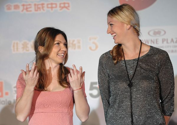 kvitova halep players party shenzhen