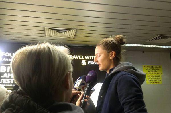 Irina Begu sosire Bucuresti tenis