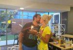 EXCLUSIV FOTO Florin Mergea şi tortul de ziua lui din partea soţiei, Daiana, la Australian Open
