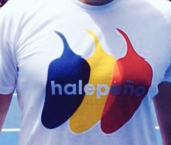 tricou halepeno australian open halep