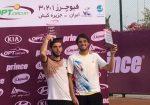 FOTO Vasile Antonescu si Luca Tatomir, cu trofeul cucerit la Kish, în Iran