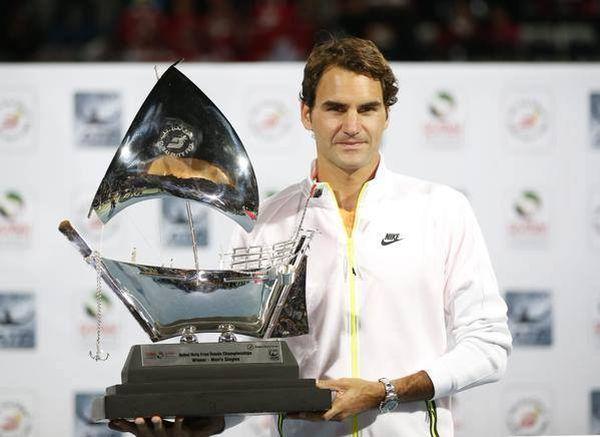 federer tenis titlu trofeu dubai