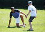 POZA ZILEI, 13 martie 2015: Novak Djokovic a jucat fotbal cu copiii la Indian Wells