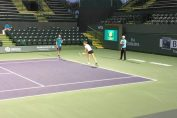 indian wells halep antrenament