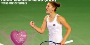 Irina Begu se află printre cele patru jucătoare din Grupa Mondială nominalizate să câștige Fed Cup Heart Award 2015, un trofeu care se acordă pe baza voturilor fanilor tenisului jucătoarei...