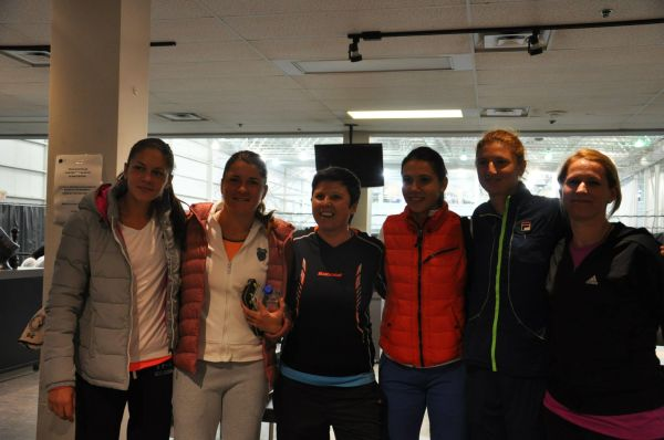 fed cup romania canada antrenament