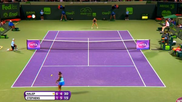halep hot shot miami open