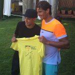 POZA ZILEI, 22 APRILIE 2015: Rafael Nadal s-a întâlnit cu Neymar la Barcelona