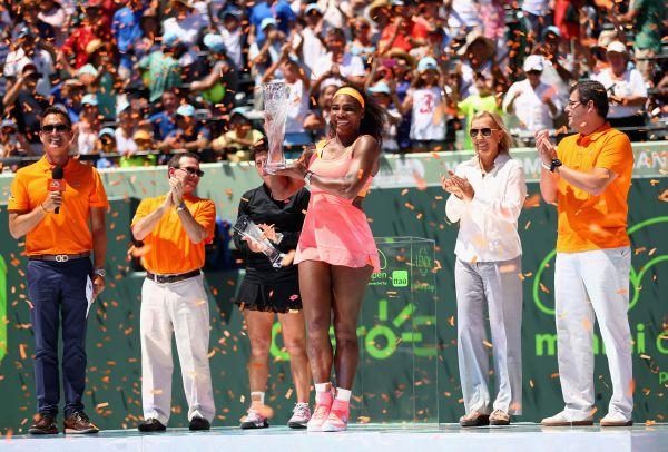 serena Williams trofeu Miami