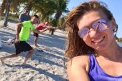 simona halep selfie plaja miami