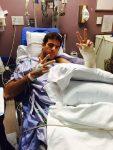 POZA ZILEI, 19 iunie 2015: Juan Martin del Potro pe patul de spital, după ce a suferit a treia operație la mâna stângă