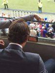 FOTO: Roger Federer a urmărit finala de la Roland Garros în tribunele unui meci de fotbal