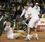 POZA ZILEI, 19 iulie 2015: Bucuria argentinienilor după ce au eliminat Serbia în sferturile Cupei Davis