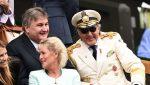 FOTO: Ilie Năstase a șocat din nou prin ținuta sa în tribune la Wimbledon