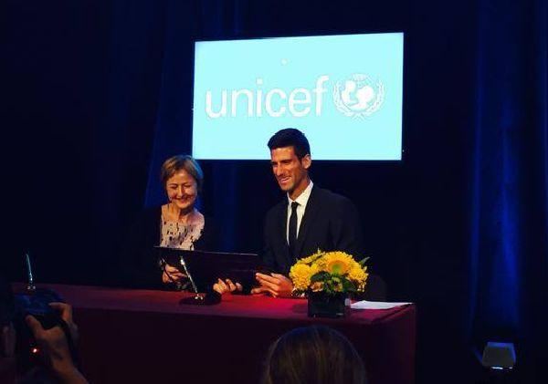 djokovic UNICEF ambasador