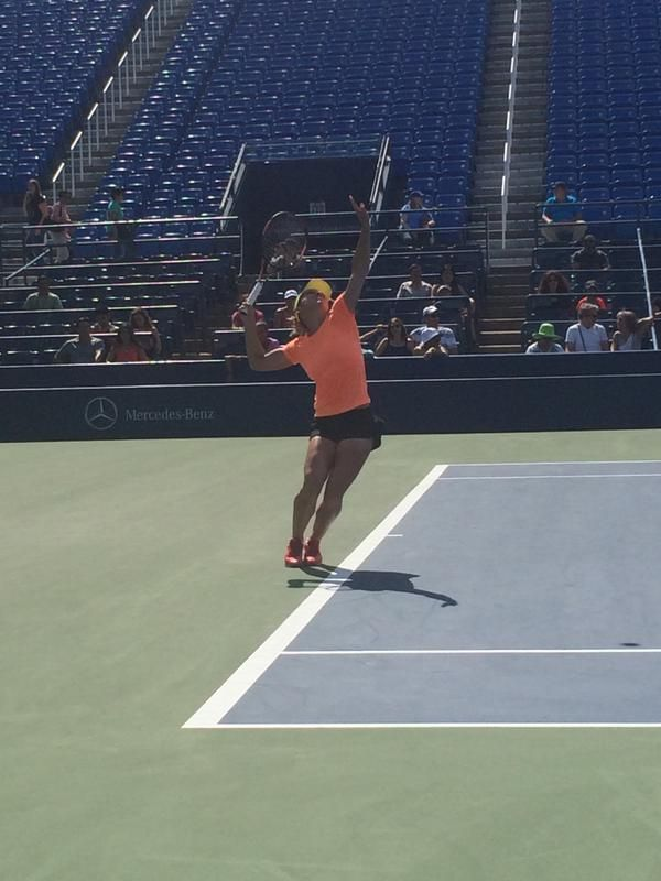 simona halep antrenament us open