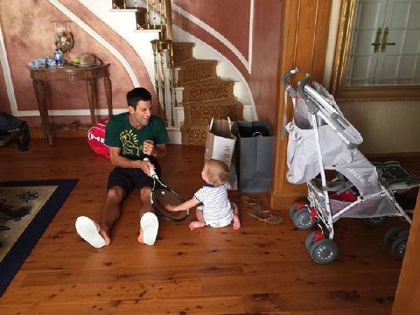 Novak Djokovic fiu stefan